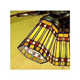 Meyda 27463 4 Inch W Prairie Corn Fan Light Shade Ceiling Fixture