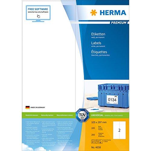herma-4658-etiketten-premium-a4-papier-matt-105-x-297-mm-200-stuck-weiss