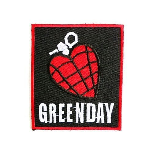 GREEN DAY Heart Grenade Punk Rock patches Embroidered iron/sew on Patch to Cloth, Jacket, Jean, Cap, T-shirt and Etc. /Size 7.5x6.5 cm (Sew On Patches Punk compare prices)
