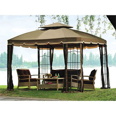 Replacement canopy for the bay window 10 39 x 12 39 sold at for Outdoor furniture gazebo