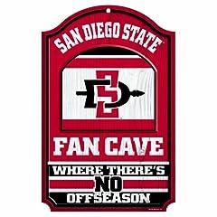 Buy NCAA San Diego State Aztecs Wood Sign, 11 x 17-Inch by WINAV