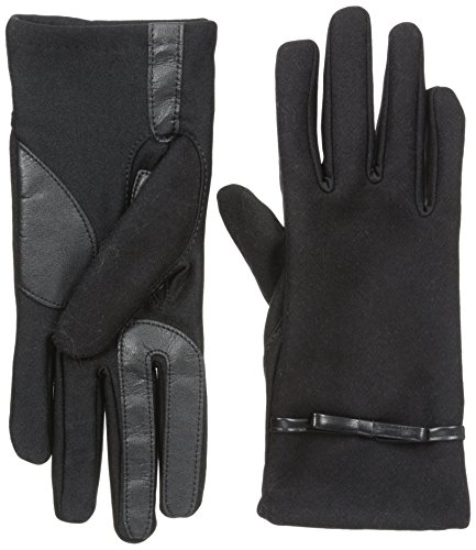 isotoner-womens-smartouch-wool-back-stretch-glove-with-bow-thermaflex-lining-black-x-small-small