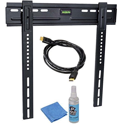 """Hdtv Video Kit With Led Tv Wall Mount, Hdmi Cable, And Screen Cleaner For 26"""" To 42"""" Flat Panel Tv"""