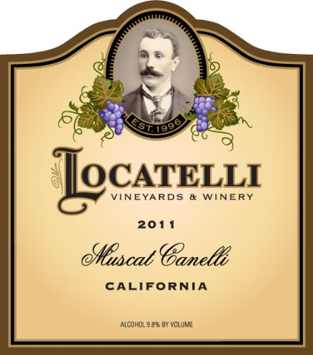 2011 Locatelli Vineyards And Winery Muscat Canelli Madera County 750 Ml