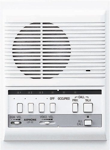 Aiphone Lef-3C Open Voice Selective Call Master Intercom With All-Call Button; Semi-Flush Mount; Accepts Up To Three Connecting Door, Sub-Master, Or Master Intercoms front-351862