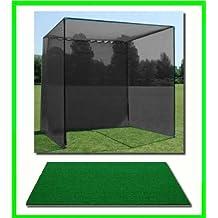 Golf Mat Golf Net Cage 10 X10 X10 Golf Net Golf Cage And 5 X5 Residential Golf Mat. Our Dura-Pro 10 D X 10 H X10...