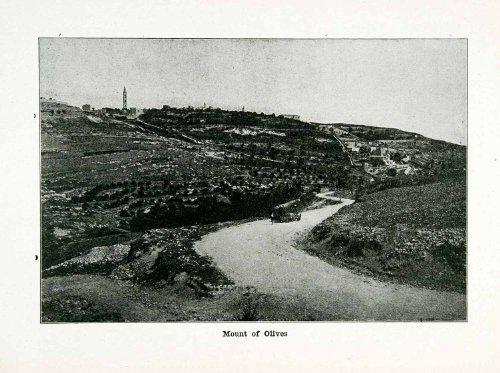 1915-print-mount-olives-garden-gethsemane-biblical-jerusalem-israel-historical-original-halftone-pri
