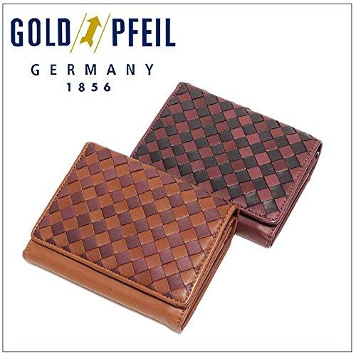 (ゴールドファイル) GOLD PFEIL レディース かぶせ 二つ折り財布プレリー GP37315 ソフトメッシュシリーズ ワイン
