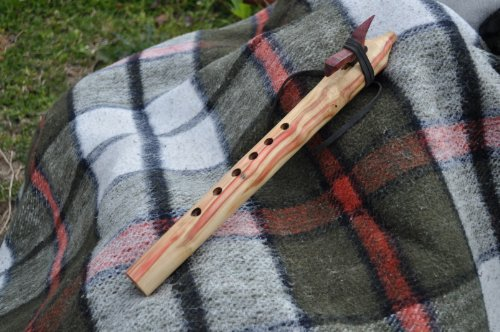 Native American Style A scale FireBox Elder Wood flute BY CRAZY BEAR
