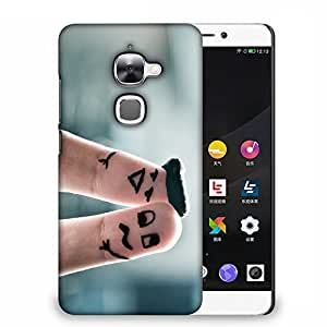 Snoogg Two Fingers Designer Protective Back Case Cover For LETV 2S
