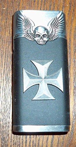 Electronic Butane Turbo Jet Torch Windproof Lighter Skulls And Maltese Cross
