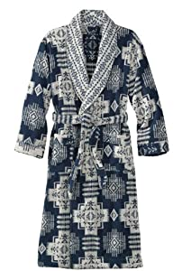 Pendleton Chief Joseph Terry Bathrobe, Navy/White