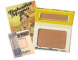 theBalm Bahama Mama Bronzer 0.25 Oz. With Twinbeauty Pro Bronzer Brush