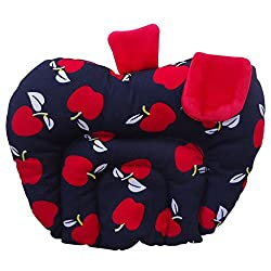 Littly Mustard Seeds (Rai) Pillow - Apple Shape (Black)