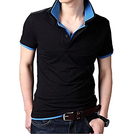 Fanideaz Branded Men's Double Collar Premium Polo T Shirt L