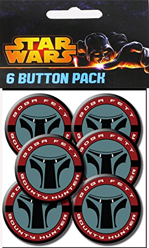 C&D Visionary Star Wars Bounty Hunter 1.25 Inch Button, (6-Piece) - 1