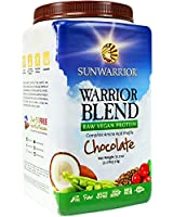 Sun Warrior, Protéine Brute à base de plantes, Warrior Blend, Chocolat, 35.2 oz (1 kg)