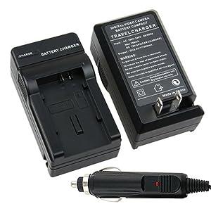 Canon BP-819 / BP-827 / BP-807 / BP-808 / BP-809 Compatible Battery Charger Set for Canon VIXIA FS200 / HF 10 / HF 100 / HF 11 / HF 20 / HF 200 / HF 21 / HF M30 / HF M300 / HF M31 / HF S10 / HF S100 / HF S11 / HF S20 / HF S200 / HF S21 / HG 20 / HG 21 / HG 30