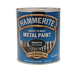 ICI 5092825 750ml Hammerite Metal Paint Smooth - Dark Green