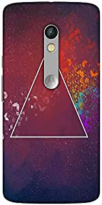 Snoogg 3Rd Dimension Designer Protective Back Case Cover For Motorola Moto X Play