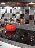 Metal Wall Tiles - Square Tiles, Color Brushed Al