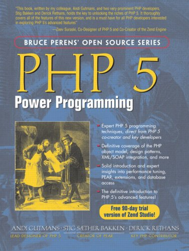Large book cover: PHP 5 Power Programming