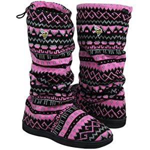 Minnesota Vikings Ladies Jacquard Knit Boots by For Bare Feet