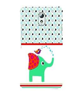 PrintVisa Animal Elephant Cute Cartoon 3D Hard Polycarbonate Designer Back Case Cover for Lenovo Vibe P1M