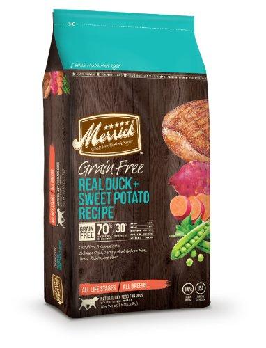 Merrick Grain Free 25-Pound Real Duck And Sweet Potato Dog Food, 1 Bag