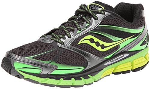 Saucony Men's Guide 8 Running Shoe,Black/Slime/Citron,8 M US