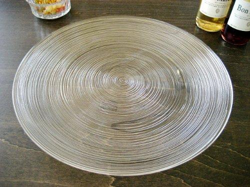 細いラインが美しいガラス食器イマージュ クープ皿27.5cm