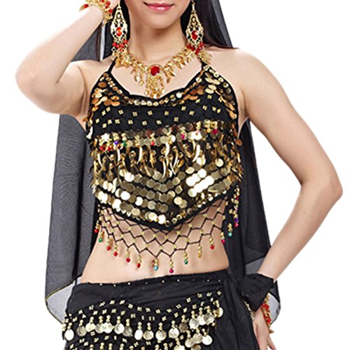 BellyLady Tribal Belly Dance Halter Bra Top With Paillette