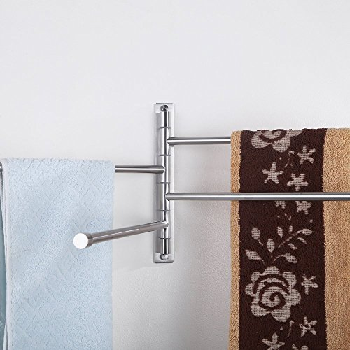 Musiclily Stainless Steel Wall Mounted Swing Arm Towel