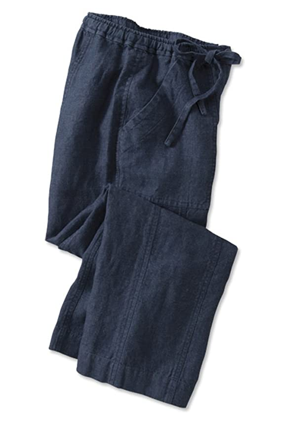 Orvis Women's Indigo Linen Cropped Pants