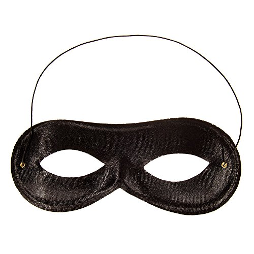 [Blue Banana Domino Mask (Black)] (Ballroom Costume For Men)