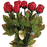 """Long Stem 19"""" Milk Chocolate Roses Bouquet of 6 - Red"""
