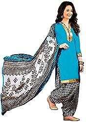 Fabgruh Presents Cotton Dress Material(Sky Blue)