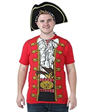 Red Pirate Prince T-Shirt – L