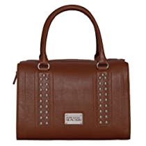 Kenneth Cole KN1235 Luxe Satchel Bag (Saddle)