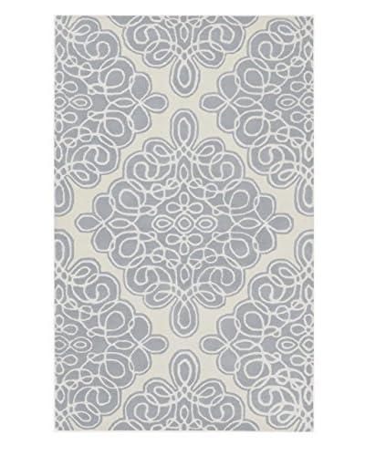 Surya Candice Olson Modern Classics Rug, Grey Blue/Ivory, 2' x 3'