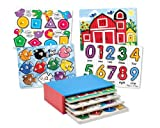 Melissa &amp; Doug 4 Puzzle Pack with Storage Case