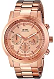 GUESS Men's U16003G1 Contemporary Rose Gold-Tone Chronograph Watch