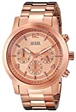 Guess Men's U16003G1 Rose-Gold Stainless-Steel Quartz Watch with Gold Dial