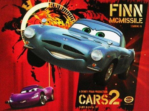 Disney Pixar Cars 2 Finn McMissile Lenticular 3D Floor Puzzle 40 Pieces