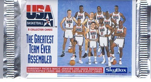 SkyBox 1992 USA Basketball, The Greatest Team Ever Assembled, Trading Cards of 8 per Pack by Basketball jetzt kaufen