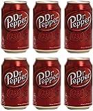 Dr. Pepper  Boisson gazeuse  pack 6 Boîtes x 33Cl