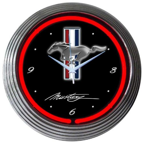 Neonetics Mustang Neon Wall Clock, 15-Inch
