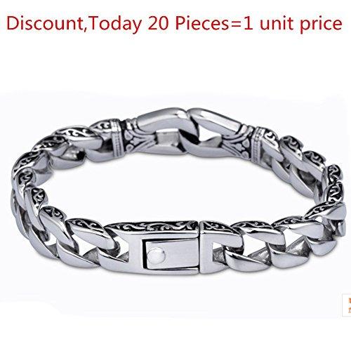 SmileForever Silver Simple Unisex Good Texture Bracelet