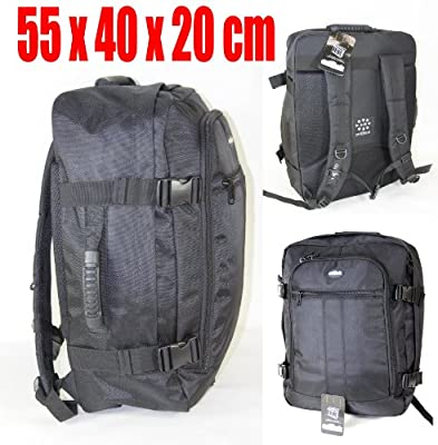 55x40x20cm Hand Luggage Backpack Cabin Flight Bag Holdall Case Rucksack Ryanair
