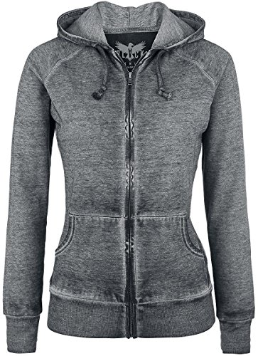 Black Premium by EMP Burnout Zipper Felpa jogging donna grigio scuro M
